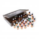 Kit de Viagem Eternal Ink - 25x Tintas 15 ml (1/2oz) + 1x Frasco de Stencil Stuff de 120 ml (4oz) numa Caixa Sullen Clothing Blaq Paq