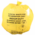 Caixa de 50 Sacos de Desperdício Clínico Amarelos