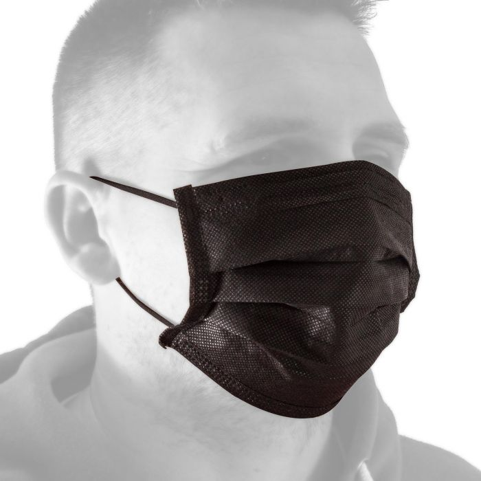 Caixa de 50 Máscaras Faciais Black Line da Killer Ink