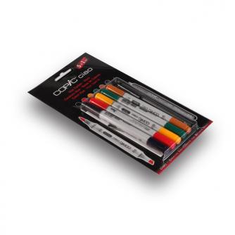 Marcadores Copic CIAO - Tonalidades - Pack 5+1
