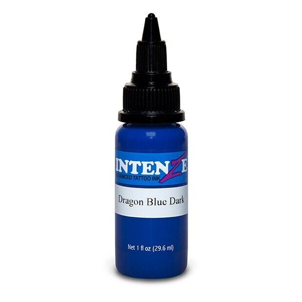 Tinta de Tatuagem Intenze Dragon Blue Dark 30 ml (1oz)