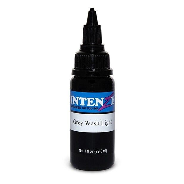 Tinta de tatuagem Intenze Ink Grey Wash Light 30ml (1oz)
