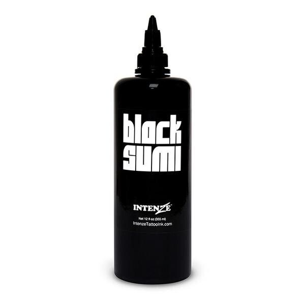 Tinta de Tatuagem Intenze Japaneze Black Sumi 360 ml (12oz)
