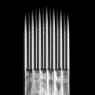 Caixa de 50 Agulhas KWADRON 0,35 mm TAPER LONGO BUGPIN TEXTURIZADO - Magnum Borda Suave