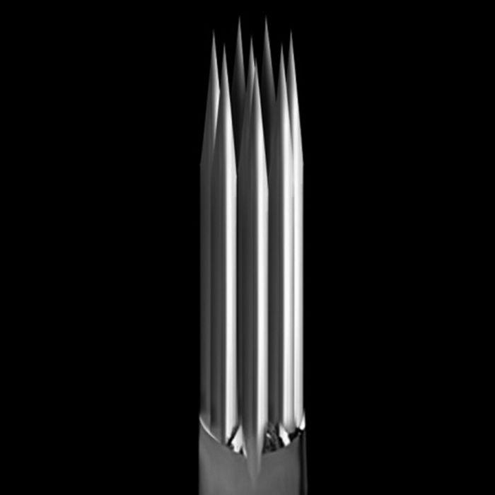 Caixa de 50 Agulhas KWADRON 0,35 mm TAPER LONGO - Shader Redondas