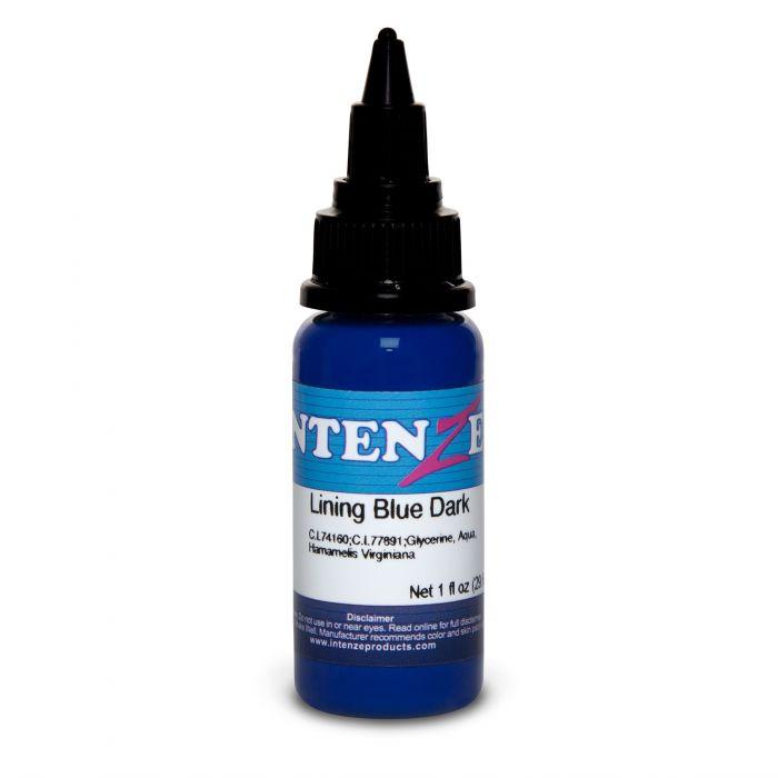Tinta de Tatuagem Intenze Color Lining Series Lining Blue Dark 30 ml (1oz)
