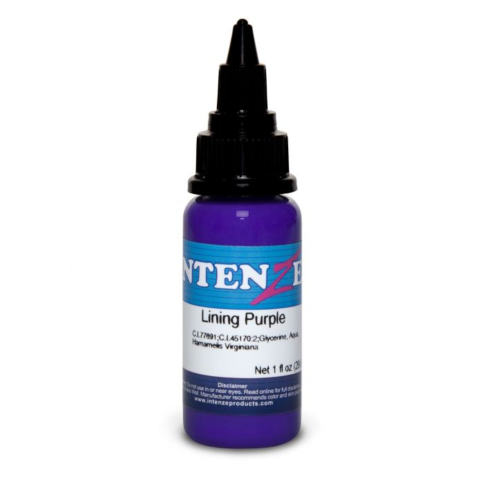 Tinta de Tatuagem Intenze Color Lining Series Lining Purple 30 ml (1oz)