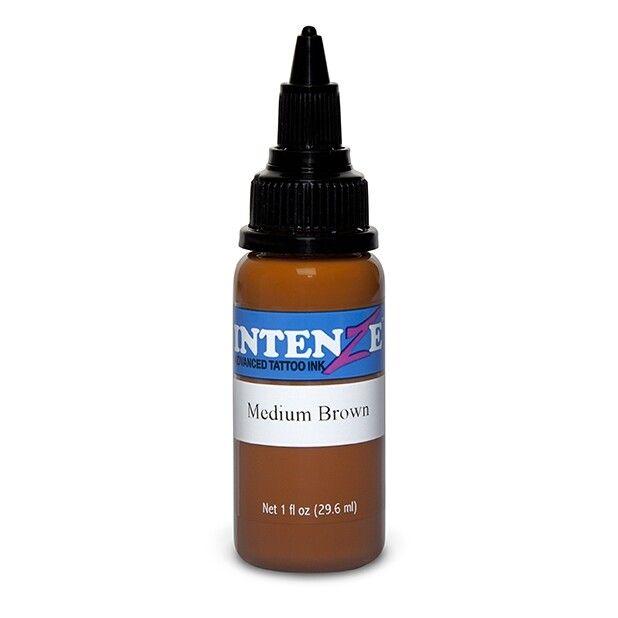 Tinta de Tatuagem Intenze New Original Medium Brown 30 ml (1oz)
