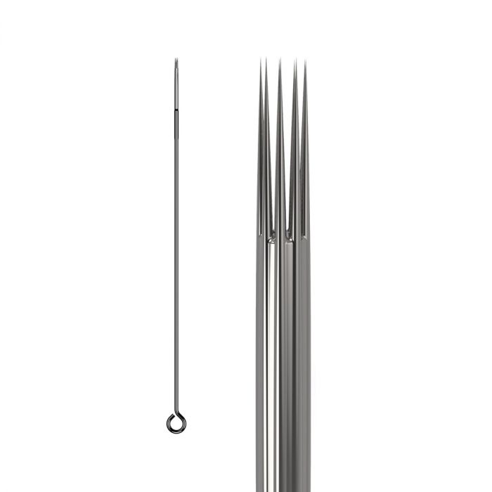 Caixa de 50 Agulhas KWADRON 0,25 mm TAPER LONGO - Shader Redondas