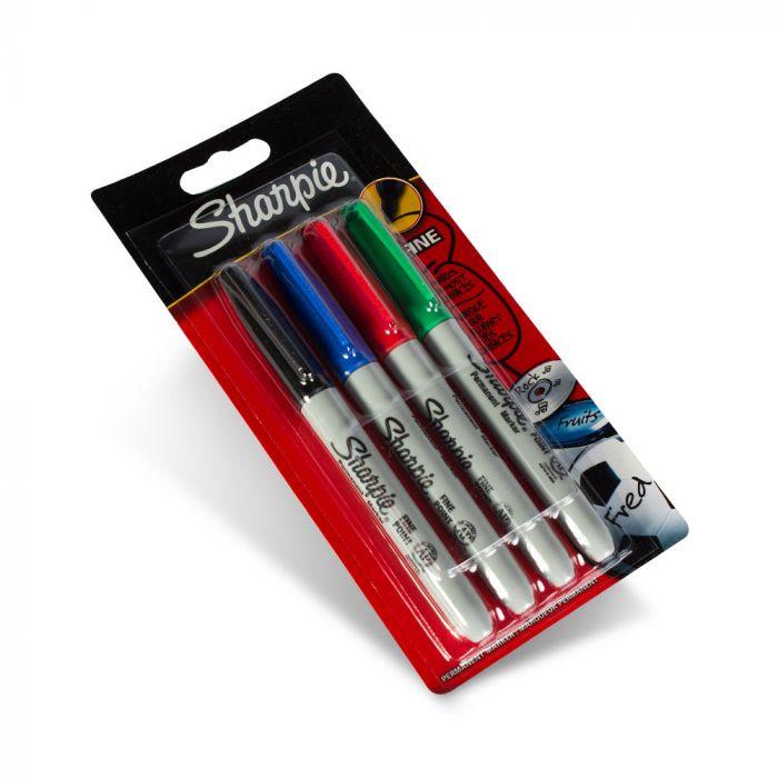 Embalagem Sortida de 4 Marcadores Sharpie de Ponta Fina