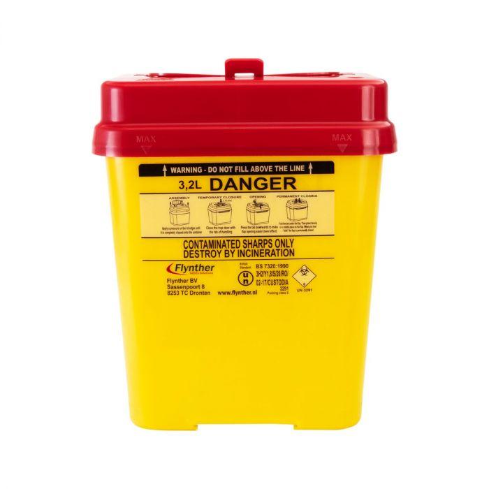 Recipiente para Agulhas Usadas Flynther Capacidade 3,2 L