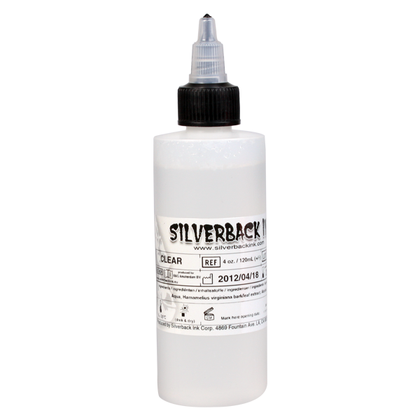 Tinta Silverback Ink® XXX Clear Solution 120 ml (4oz)