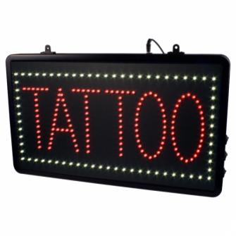 Sinal LED de Pendurar com Corrente para Estúdio de Tatuagens